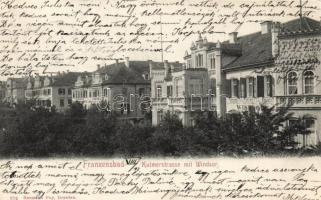 Frantiskovy Lázne, Franzensbad; Kulmer street, Windsor