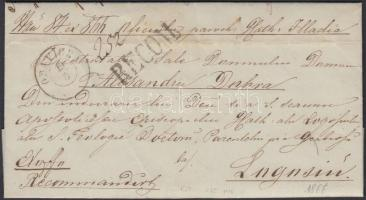 1866 Ajánlott / Registered ex offo ORAVICZA + RECOM - TEMESVÁR RECOMMANDIRT LUGOS