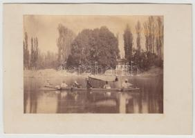 cca 1880-1900 Európai utazó Indiában, képméret 9x12 cm, karton 11x16 cm.