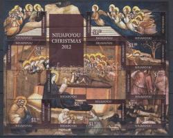 2012 Karácsony 12 bélyeget tartalmazó kisív
