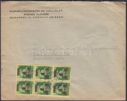 1945 (3. díjszabás) Helyi levél Kisegítő 6x 1P/1P bérmentesítéssel