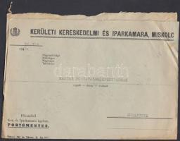 1945 (3. díjszabás) Távolsági levél Kisegítő 10x 1P/1P bérmentesítéssel, eltolódott felülnyomással