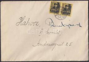 1945 (5. díjszabás) Távolsági levél Kisegítő 2x 60P/48f bérmentesítéssel