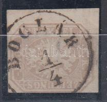 "Newspaper stamp (thin paper), Hírlapbélyeg ""BOGLÁR"" (kis papírelvékonyodás)"