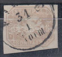 """Newspaper stamp, Hírlapbélyeg jó / szép szélekkel """"F(IUM)E /Vorm."""""""