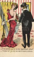 French erotic postcard, humour s: Willy, Francia erotikus képeslap, humor, s: Willy