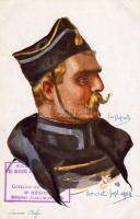Belgian army, Belgian lancer, s: Em. Dupuis, Belga hadsereg, lándzsás katona, s: Em. Dupuis