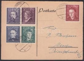 Generalgouvernement 1942 levelezőlap Münchenbe / Postcard from Huszcza to Munich