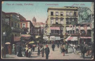 Turkey 1913 Képeslap Konstantinápolyból Belga Kongóba / Postcard from Constantinaple to Belgiam Congo