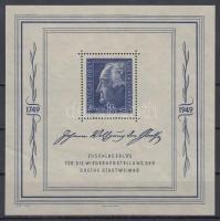 1949 Goethe blokk Mi 6