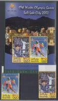 2002 Téli Olimpia Salt Lake City Mi 3969-3970 + blokk Mi 520