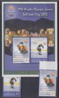 2002 Téli Olimpia Salt Laky City ívszéli sor Mi 1286-1287 + blokk Mi 103