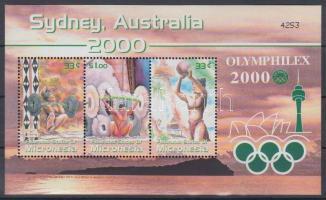 2000 Olimpia Sydney, Olymphilex bélyegkiállítás blokk Mi 74
