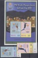 2002 Téli Olimpia Salt Lake City ívszéli Mi 1789-1790 + blokk 213