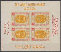1963 Küzdelem a malária ellen vágott blokk Mi 6