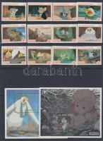 1991 Walt Disney sor Mi 1845-1856 + blokksor 189-192