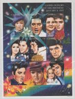 1995 Elvis Presley vágott kisív Mi 2005-2013 / imperforata minisheet