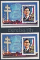 1995 Charles de Gaulle blokkpár A 77 A + A 77 B