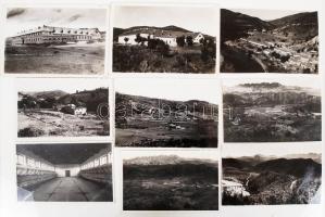 cca 1930-1940 Magyar építő és hídépítő mérnökök törökországi munkája során készült fotók, képek egy része feliratozva, 33 db, 3x4 és 10x15 cm közötti méretekben / cca 1930-1940 Hungarian constructors working in Turkey, 33 photos