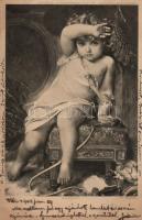 Girl s: E. Munier, Kislány, s: E. Munier