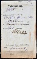 1882 Ex offo tudakozvány / Reclamation FACSET - LUGOS - WIEN