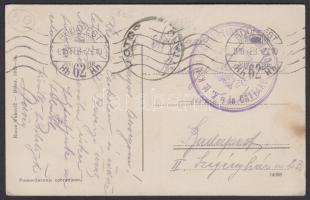 1916 Képeslap / Postcard MILITARSTATIONSKOMMANDO in CATTARO