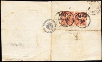 1860 2 × 5kr II. tértivevény / on Retour Recepisse MAKÓ - DETTA