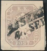 """Newspaper stamp with nice margins, Hírlapbélyeg szép szélekkel """"JASZK(A)"""""""