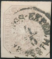 """Newspaper stamp with large margins, Hírlapbélyeg jó, óriási szélekkel  """"ZEITUNGS-EXPED. / PESTH"""""""