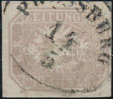 "Newspaper stamp with nice margins, Hírlapbélyeg jó / szép szélekkel ""P(RES)SBURG"""