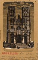 Brussels, Bruxelles; Eglise Sainte-Gudule / church. litho