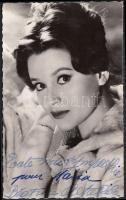 Beatrice Altariba (1939-) francia színésznő saját kezű aláírása az őt ábrázoló fotóképeslapon / autograph signature.