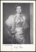 Nadja Tiller német színésznő (1929-) saját kezű aláírása az őt ábrázoló fotón / autograph signature.