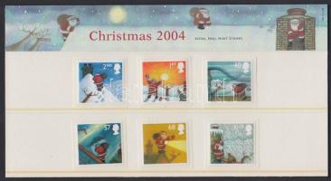 2004 Karácsony öntapadós sor Mi 2258-2263 presentation pack