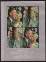 2005 Károly herceg és Kamilla esküvője blokk Mi 24 presentation pack