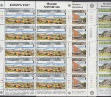 1987 Europa CEPT: Modern építészet sor + kisív sor Mi 405-407