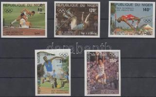 1984 Nyári olimpia vágott sor Mi 876-880