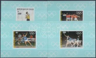 1983 Nyári olimpia vágott sor blokkformában Mi 846-849