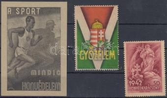 1942-1944 Légrády Sándor levélzárók, 3 db
