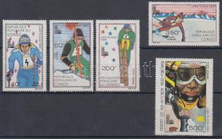 1980 Téli olimpia sor felülnyomással Mi 721-725