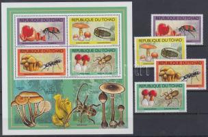 2012 Rovarok és gombák sor + kisív Mi 2543-2546