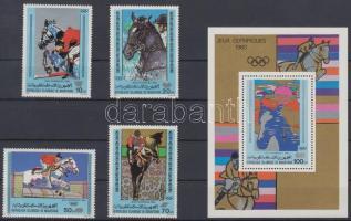1980 Moszkvai nyári olimpia sor Mi 680-683 + blokk Mi 27