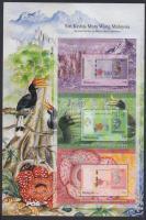 2012 Bankjegyek, madarak, teknősök 2 klf 3 blokkot tartalmazó ív