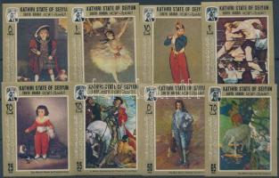 1967 Festmények vágott sor Mi 108-115 A