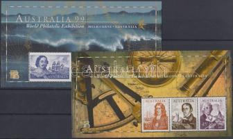 1999 Nemzetközi bélyegkiállítás: Tengerészek blokkpár A99 lyukasztással Mi 31 AII-32 AII