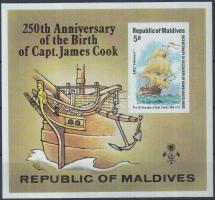 1978 James Cook kapitány vágott blokk Mi 51