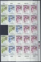 1973 Évfordulók sor 14-es ívdarab Mi 475-477