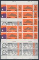 1975 Európai építészeti örökségének éve sor Mi 514-517 9-es ívdarabokban
