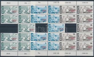 1976 Nyári olimpia, Montreal sor Mi 529-531 9-es ívdarabokban