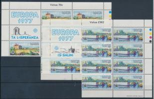 1977 Europa CEPT sor Mi 554-555 9-es ívdarabokban